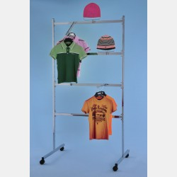 CHROME CLOTHES RAIL WITH 4 BARS