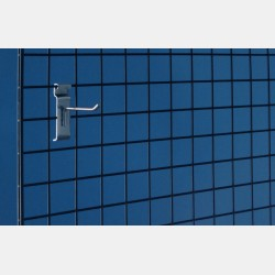CHROME GRIDWALL HOOK 10CM