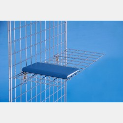 HORIZONTAL CHROME WIRE SHELF FOR GRIDWALLS