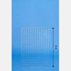 "CHROME GRIDWALL PANEL ""GRIP"" 60X90CM"