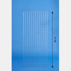 "CHROME GRIDWALL PANEL ""GRIP"" 60X140CM"