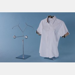 CHROME FEMALE DISPLAY STAND FOR SHIRTS AND T-SHIRTS