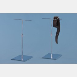 CHROME T-STAND FOR SHOP WINDOWS