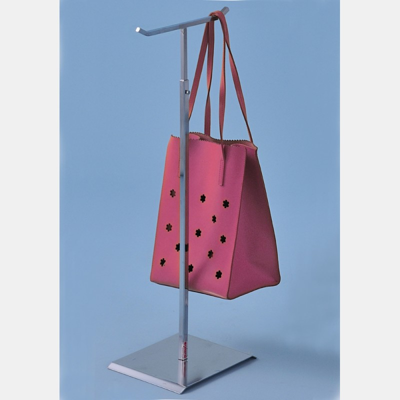 BIG CHROME DISPLAY STAND FOR HANDBAGS WITH DOUBLE HOOKS