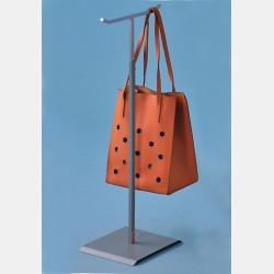 BIG METALLIC GREY DISPLAY STAND FOR HANDBAGS WITH DOUBLE HOOKS