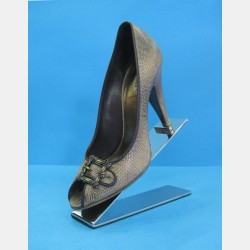 POLISHED STEEL SHOE DISPLAY STAND