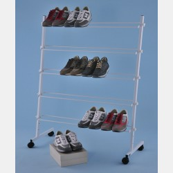 WHITE WIRE DISPLAY FOR SHOES WITH 5 CHROME LAYERS