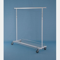 LARGE WIRE GRID DISPLAY FOR CLOTHES RAILS