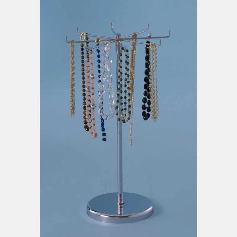 CHROME NECKLACE DISPLAY FOR COUNTER