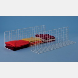 LARGE WHITE GRID SHELF DIVIDER