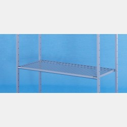 METALLIC GRAY SHELF FOR RECTANGULAR GARMENT DISPLAY UNIT