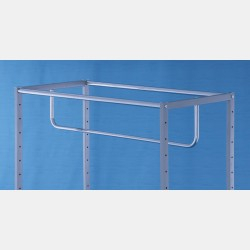 CHROME ROUND BAR FOR RECTANGULAR GARMENT DISPLAY UNIT