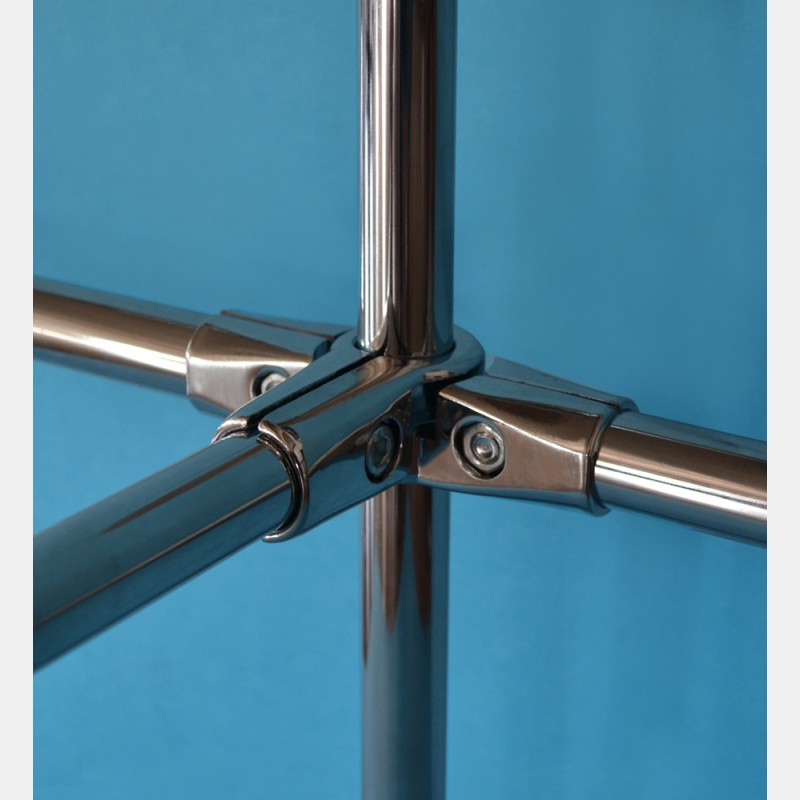 CHROME FIVE WAY JOINT FOR 25MM DIAMETER TUBE