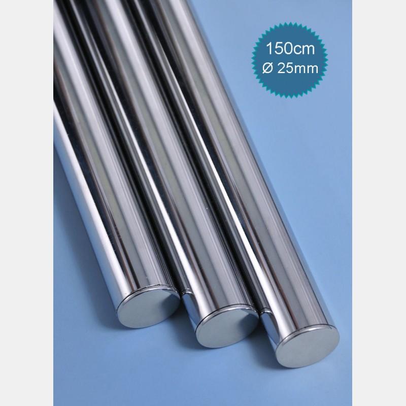 25MM DIAMETER CHROME TUBE - LENGTH 150CM