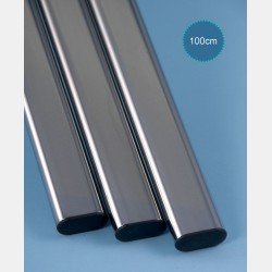 CHROME OVAL TUBE - LENGTH 100CM