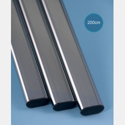 CHROME OVAL TUBE - LENGTH 200CM