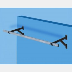 WALL MOUNTED CLOTHES RAIL BRACKET - FOR OVAL TUBE