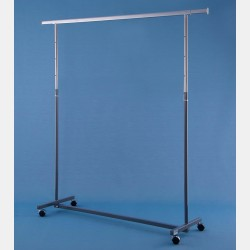 GREY CLOTHES RAIL GARDA - ADJUSTABLE HEIGHT