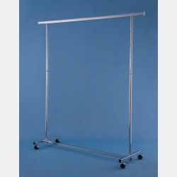 "CHROME ""GARDA"" CLOTHES RAIL - ADJUSTABLE HEIGHT"