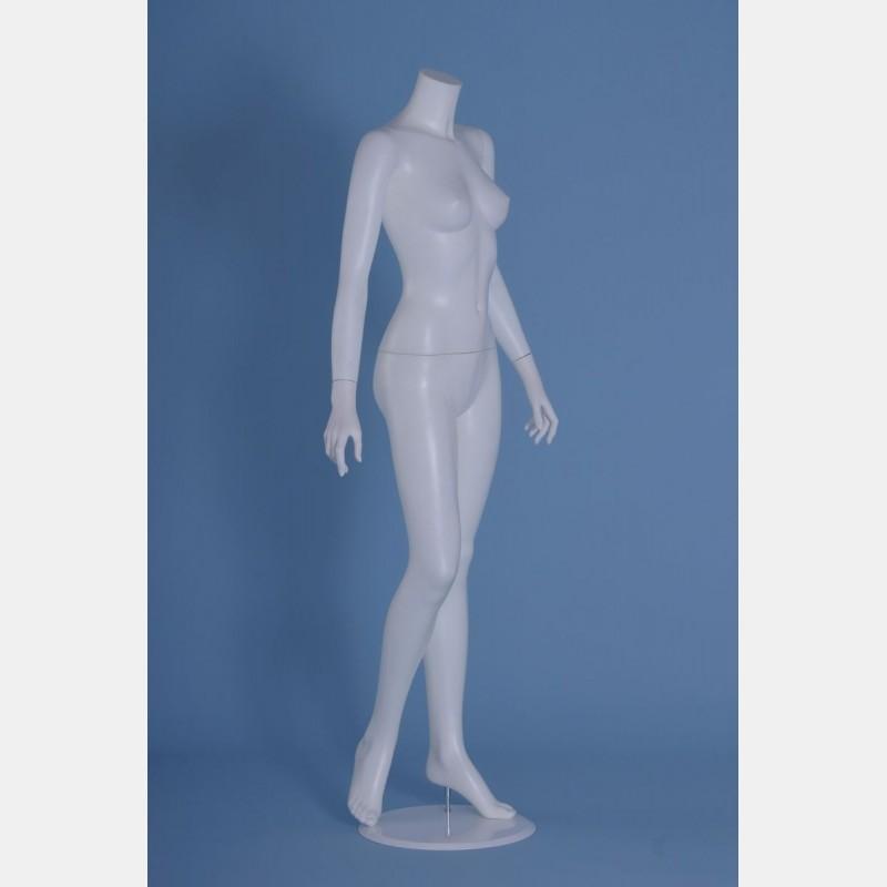 HEADLESS FEMALE WHITE MANNEQUIN