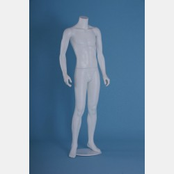 HEADLESS MALE WHITE MANNEQUIN