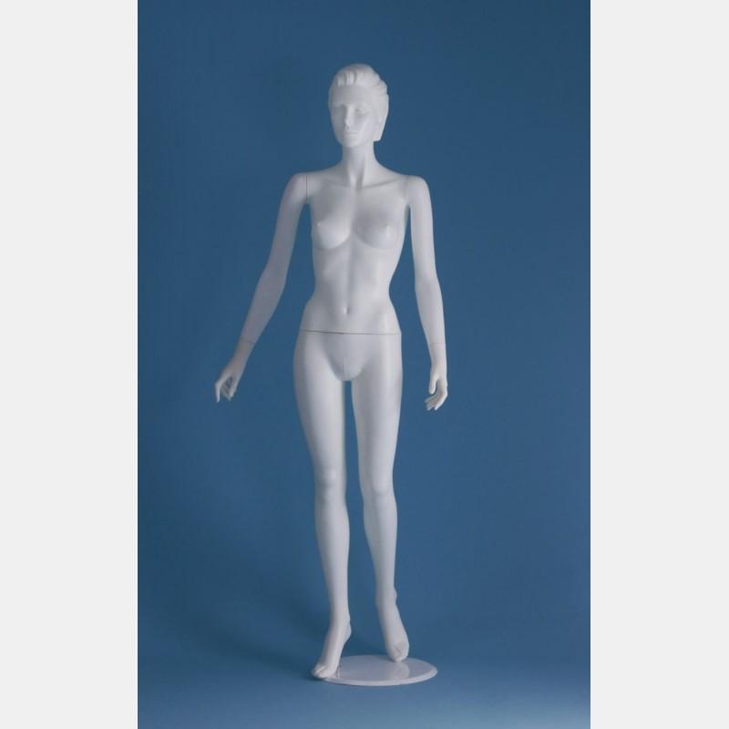 FEMALE WHITE SCULPTED MANNEQUIN