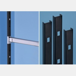 BLACK WALL UPRIGHTS PAL - LENGTH 300CM