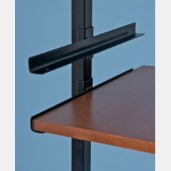 BLACK SHELF BRACKETS FOR SHELVING UNIT PAL