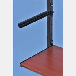 BLACK SHELF BRACKETS FOR WALL UPRIGHTS ISEO