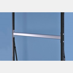 CHROME OVAL HANGING RAIL 106CM FOR UPRIGHTS ISEO