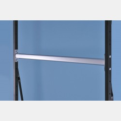 CHROME OVAL HANGING RAIL 126CM FOR UPRIGHTS ISEO