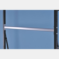 CHROME OVAL HANGING RAIL 146CM FOR UPRIGHTS ISEO