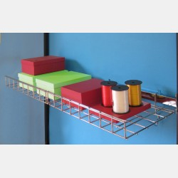 RECTANGULAR BACK BAR FOR PRONGS AND GRID SHELVES - UPRIGHTS ISEO