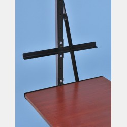 BLACK SHELF BRACKETS FOR SHELVING UNIT ISEO
