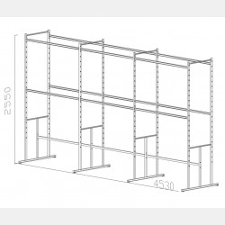 "SHELVING UNIT ""PAL"" N.03"