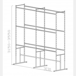 SHELVING UNIT PAL N.08