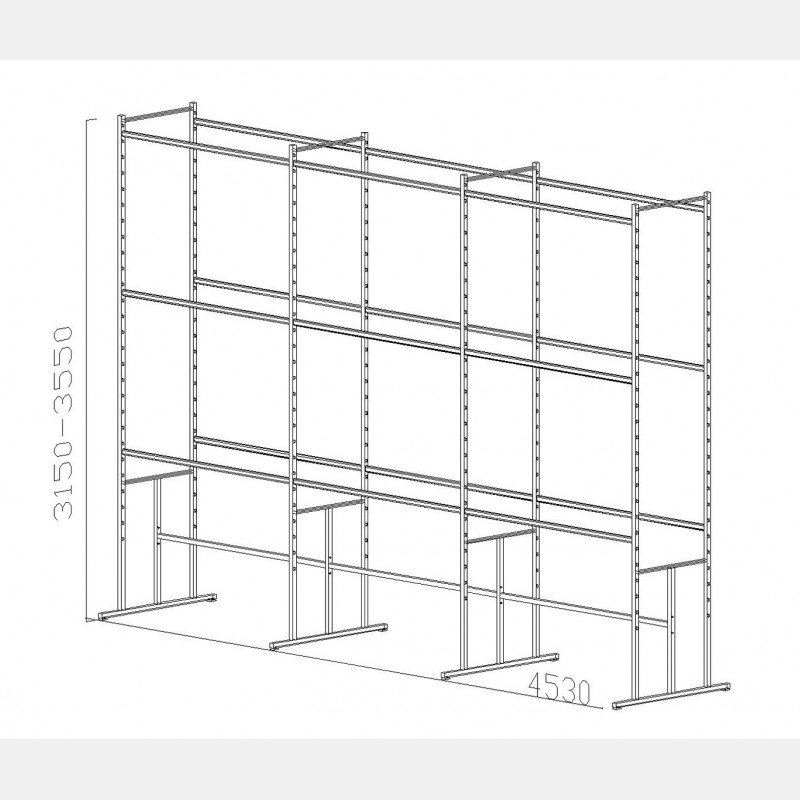 "SHELVING UNIT ""PAL"" N.09"