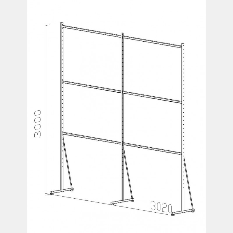 "SHELVING ""ISEO"" UNIT N.08"