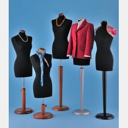 TAILORS DUMMY WITH WOODEN STAND