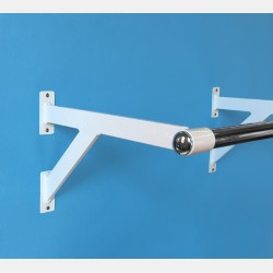 WALL MOUNTED CLOTHES RAIL BRACKET FOR 25MM ROUND TUBE
