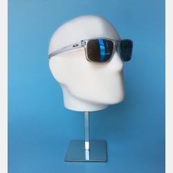 MALE MANNEQUIN DISPLAY HEAD WITH CHROME BASE
