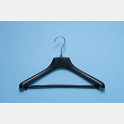 BLACK CLOTHES HANGER 34CM WITH BAR