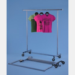 CHROME CLOTHES RAIL SVELTO
