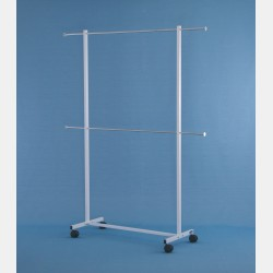 DOUBLE CLOTHES RAIL FOR HANGING FABRIC SAMPLES