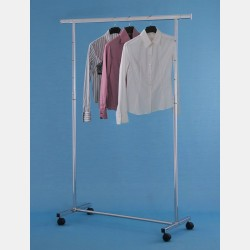 CHROME CLOTHES RAIL