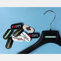 CUSTOMIZED OVAL TAG 2 COLORS FOR PLASTIC HANGERS