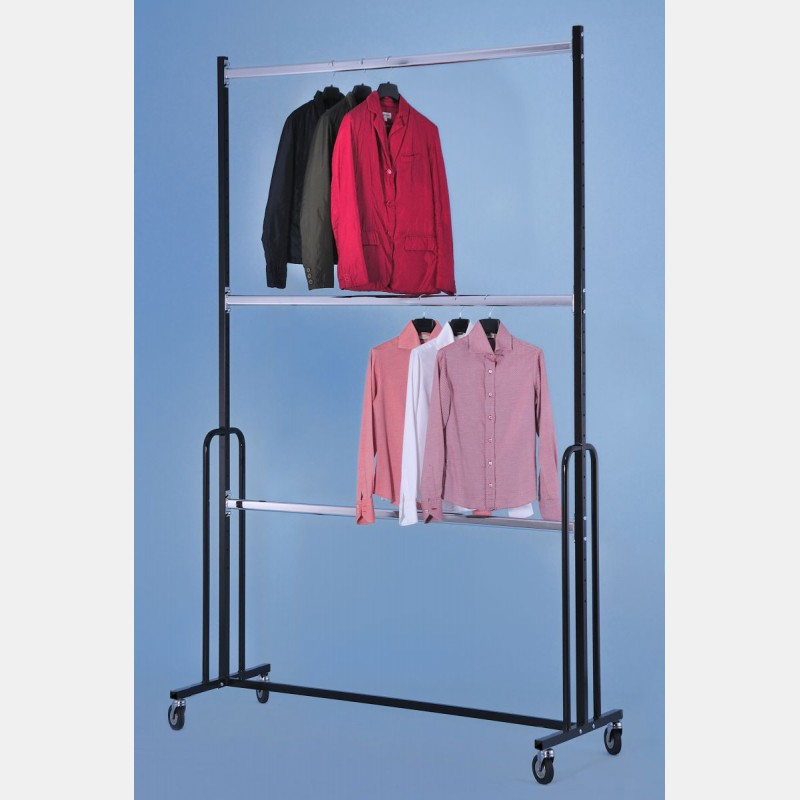 SUPER HEAVY DUTY CLOTHES RAIL WITH 3 BARS