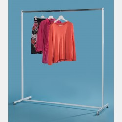 SIMPLE CLOTHES RAIL IN WHITE STEEL