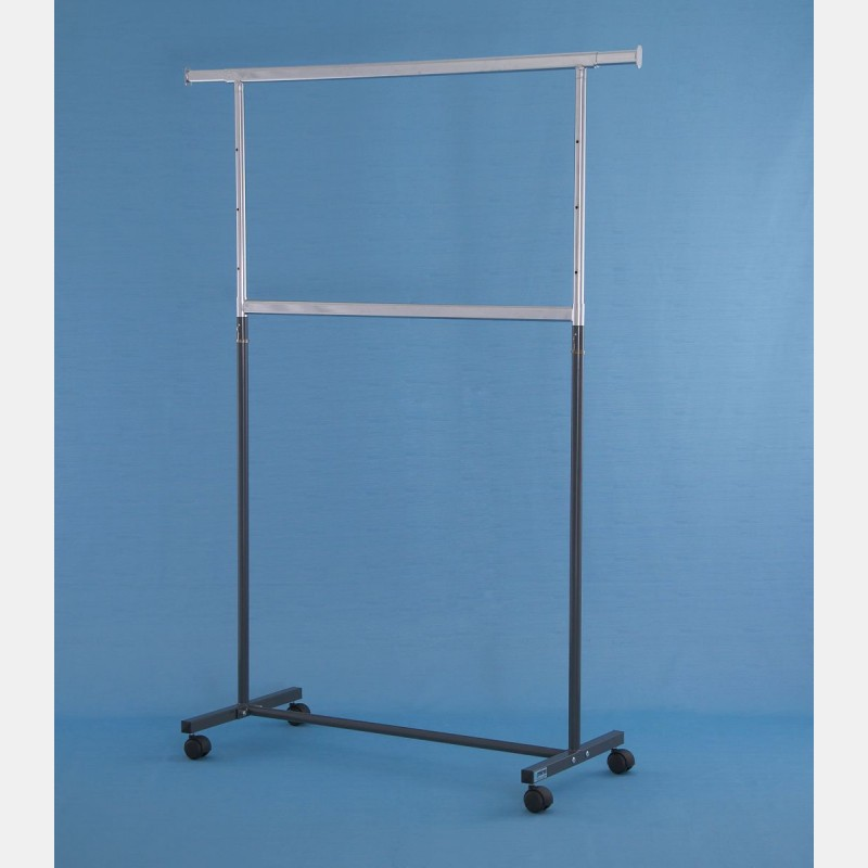 GREY GARDA MIGNON DOUBLE CLOTHES RAIL