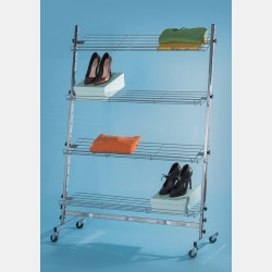 CHROME DISPLAY SYSTEM WITH 4 SHELVES
